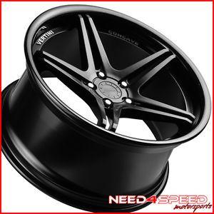 """19"""" Mercedes Benz W204 C250 C300 C350 Vertini Monaco Black Concave Wheels Rims"""