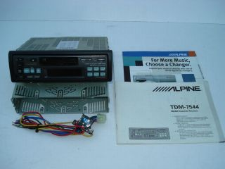 Alpine Cassette Receiver TDM 7544 with CD Shuttle Changer Control Car Stereo