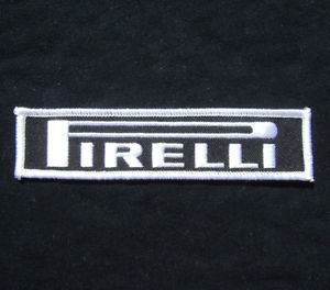 Pirelli Tire Racing F1 GP Suit Badge Logo Iron on Patch
