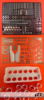 1 12 Ferrari 641 2 Super Detail Up Set Inc Alu Funnels Etch for Tamiya