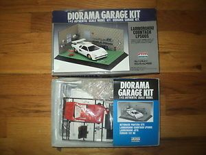 Arii Diorama Garage Kit 1 43 Lamborghini Countach LP500S Model Kit Parts SEALED