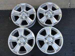"""Set of 18"""" 2014 Factory Silver Toyota Tundra Replacement Wheels Rims 18x8"""
