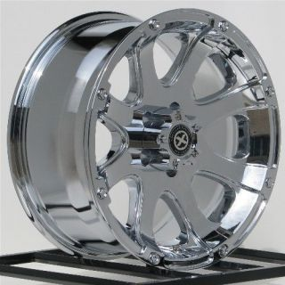 15 inch Chrome Wheels Rims Nissan Truck Toyota Pickup Chevy GMC Truck ATX 6 Lug