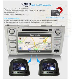 "Latest 7"" Toyota Camry Aurion 2007 2011 GPS Navigation Car Player Stereo DVD CD"
