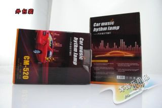 90x10cm Car Music Rhythm Lamp LED Sound Activated Equalizer Blue Color Flashing