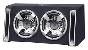 """Dual 12"""" inch Woofer Subwoofer Speaker Bass Box Car Audio Stereo Sound Enclosure"""