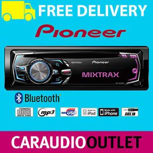 Pioneer DEH X8500BT Car Stereo CD  Bluetooth Player USB iPod iPhone Android