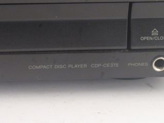 Sony Compact Disc Player CDP CE375 5 CD Changer