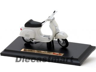 Maisto 1 18 1969 Vespa 50 Special Scooter Diecast Vintage Moped Motorcycle White