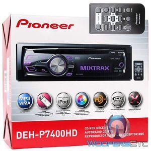 Pioneer DEH P7400HD CD MP3 WMA iPod USB Equalizer 200W HD Radio Car Stereo New 884938147095