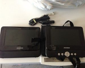 Sylvania Dual Screen Portable Car DVD Player not Working for Parts or Repair