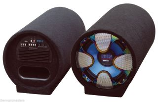 """8"""" inch Amplified Woofer Subwoofer Speaker Bass Tube Car Audio Stereo Sound Sub 068888878739"""