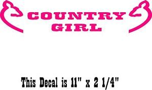 Country Girl Rear Window Decal Any Car Truck