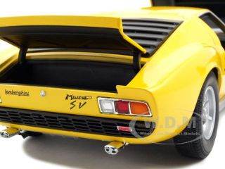 1971 Lamborghini Miura SV Yellow 1 18 Diecast Model Car