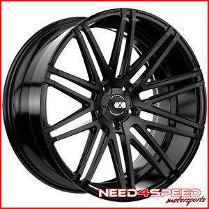 "20"" Hyundai Genesis Coupe XO Milan Matte Black Concave Staggered Wheels Rims"