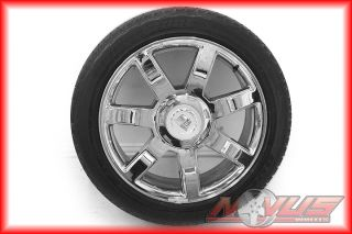 "22"" Cadillac Escalade Chrome Wheels Tires Chevy Tahoe GMC Factory 20 24"