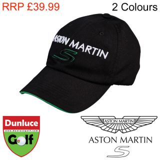 Official Aston Martin s Black Hat Baseball Cap Adult Mens Racing Golf Tennis