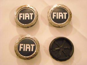 Coprimozzo Borchie Tappi Fiat 50mm Fregi Cerchi in Lega Wheels Centre Caps