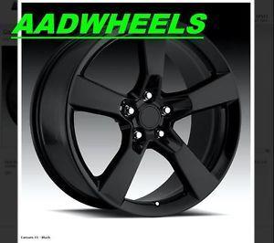 20x9 2010 2011 2012 Camaro SS Black Wheels Rims Tires Bolt Pattern 5x120