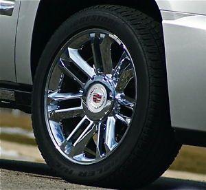 Set Real Genuine GM Factory Cadillac Escalade Platinum 22 inch Wheels Tires