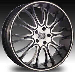 "20"" Velocity VW920 Black Wheel Tire Package Rims Mazda Mitsubishi Nissan Volvo"