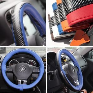 Leather Steering Wheel Wrap Cover 47022 Blue Hummer Fiat Car Needle Thread SUV
