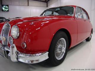 1966 Jaguar Mark II 3 8 Saloon Power Steering Stainless Steel Wire Wheels