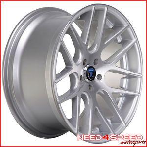 "20"" Lexus SC430 SC Rohana RC26 Concave Silver Staggered Wheels Rims"