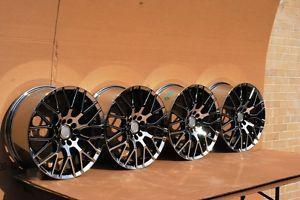 18x8 0 Black Chrome Wheels Rim 5x108 Lincoln LS Jaguar s Type XJ XJ8 XJR