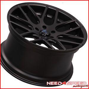 "20"" Nissan 350Z Rohana RC26 Deep Concave Black Staggered Wheels Rims"