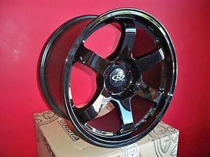17 Rota Grid Yamaha Black Rims Wheels 17x9 42 5x100 Subaru WRX