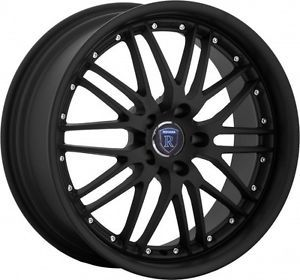 "18"" Rohana RL06 Matte Black Low Offset Wheels Rims Fit Nissan 350Z 370Z Nismo"
