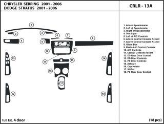 Chrysler Sebring 01 06 Wood Dash Kit Trim Chrome Parts Tuning Dashboard