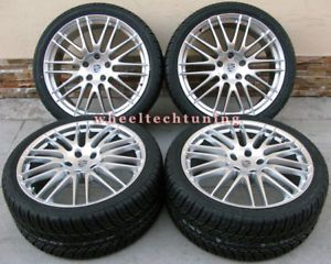"""20"""" Porsche Cayenne GTS RS Spyder Style Wheel and Tire Package Wheels Rims"""