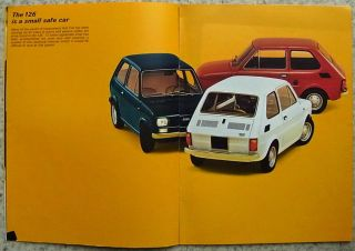 Fiat 126 Large Format Car Sales Brochure c1972 3617