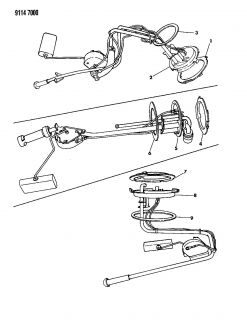 New Genuine Mopar 4051663 Fuel Tank Sending Unit