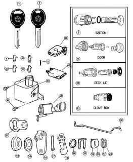 New Genuine Mopar 5083915AB Ignition Lock Cylinder