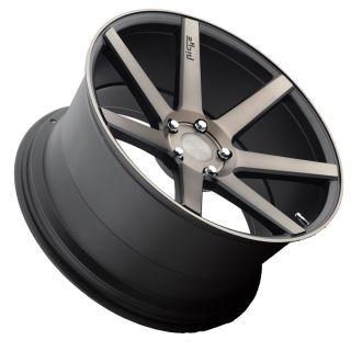 "20"" Niche Verona Black Machined Concave Staggered Wheels Rims Fits BMW x5 E70"