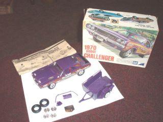 Vintage 1970 MPC Dodge Challenger Model Kit Car for Parts