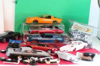 Vintage Model Car Parts Lot Junkyard Chevy Camaro Lot