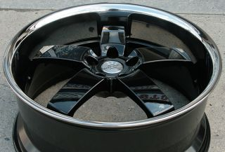 "Redbourne Monarch 22"" Black Rims Wheels Range Rover LM"