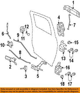 Dodge 4589651AB Lock Hardware Rear Door Latch