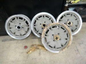 Super RARE Delta Milano Alloy Wheels 4 Alfa Romeo 14x6 5 Miura Style Italy