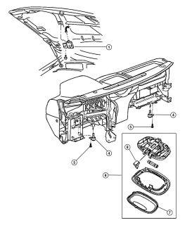 Lamp Underhood Light Chrysler Dodge Jeep Plymouth 98 12 Genuine Mopar 56021441
