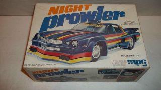 1979 MPC Night Prowler Camaro Street Machine Model Kit in Box 1 25 Built Parts