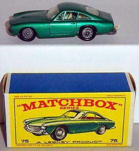 DTE Lesney Matchbox Regular Wheels 75 2 Wire Wheel Ferrari Berlinetta E Box NIOB