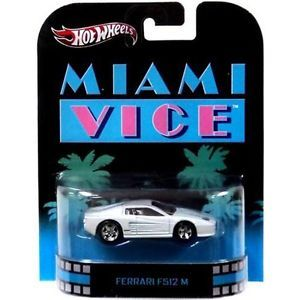 Miami Vice Ferrari F512 M Hot Wheels 2013 Retro Entertainment Mattel X8915 746775175641