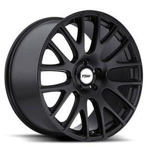 17 inch TSW Mugello Black Wheels Rims 5x4 5 Volvo C30 C70 S40 V40 S60 S80 V50