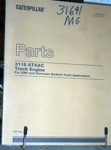 1990 GMC Chevrolet Caterpillar 3116 Diesel Engine Parts Manual