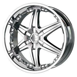 26 inch DIP Wicked Chrome Wheels Rims 5x120 Range Rover